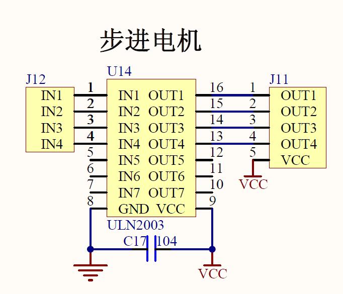protel 步进电机驱动电路原理图